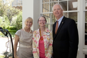 Good company, Chief cultural officer, first lady, yours truly at Florida Governor's Mansion.