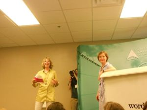 Novelist Ann Patchett (right) introduced by Mary Ann Lindley