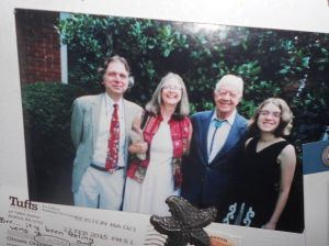 Jimmy Carter met uncountable numbers of people after his Presidency including our family, twice. Plains, Ga. c. Jan Godown Annino