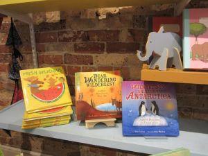 Irene Latham P.B. Shelf (with approving elephant) The Bookshelf, Thomasville, GA  c. 2016 JanGodownAnnino